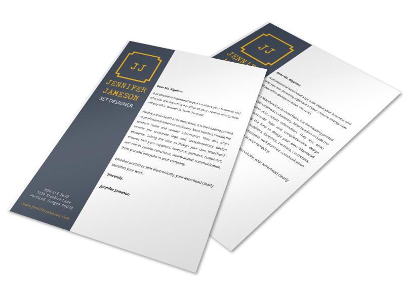 Designer Letterhead Template Preview 3
