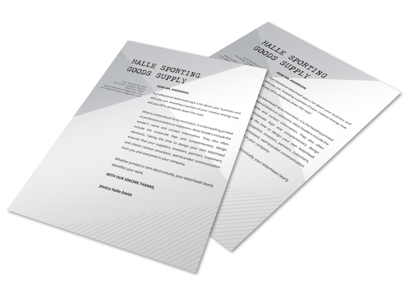 Angle Letterhead Template Preview 1