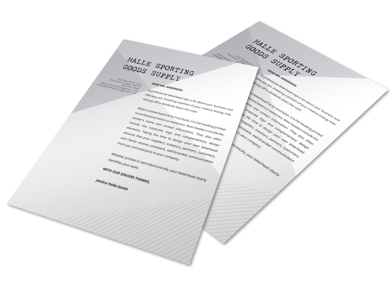 Angle Letterhead Template Preview 3