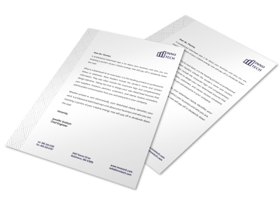 Left Pattern Letterhead Template preview