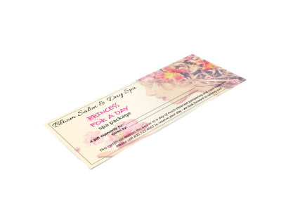 Princess Spa Gift Certificate Template preview