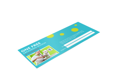 Pet Grooming Gift Certificate Template preview