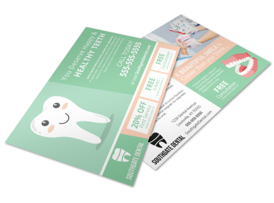 Healthy Teeth Postcard Template preview