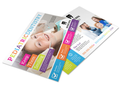 Pediatric Dentistry Postcard Template preview