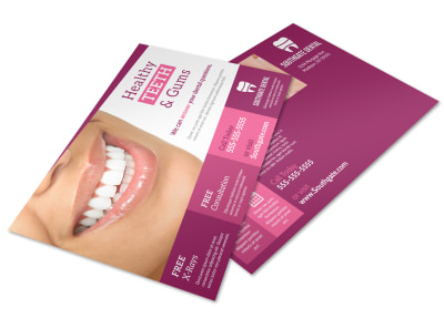 Healthy Teeth & Gums Postcard Template preview