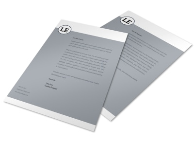 Letterhead Template lla7peajer preview