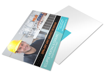 Eclipse HVAC Postcard Template 2egjthtj29 preview