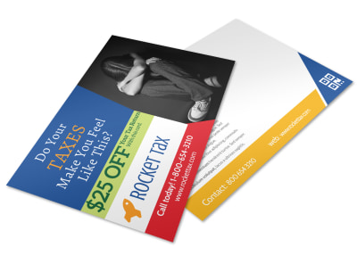 Tax Postcard Template une5hx40t8 preview