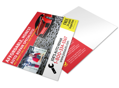 Auto Repair Postcard Template vhmvhf7u5p preview