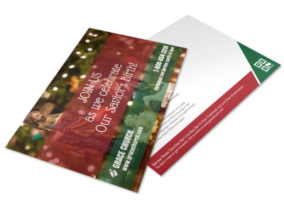 Christmas Church Invite Postcard Template wli1s57u3j preview