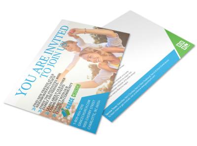 Church Invitation Postcard Template 9f1bhlpufk preview