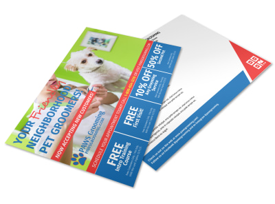 Dog Grooming Postcard Template ggj3u2dus5 preview