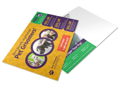Dog Grooming Postcard Template 2zh3h6zvkt preview