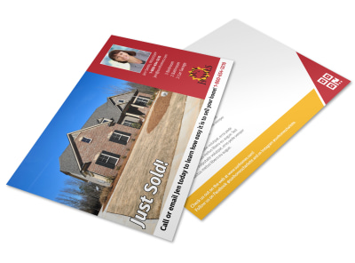 Just Sold Real Estate Postcard Template enn2over5d preview