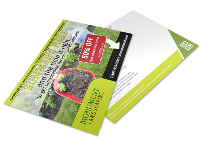 Residential Landscaping Postcard Template i56oquz0bb preview