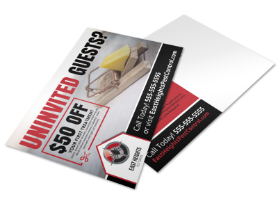 Pest Control Postcard Template daglvu8oue preview