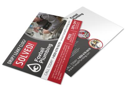 Plumbing Postcard Template s8gxb05sgi preview