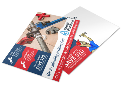 Plumbing Postcard Template nqqw8jqzte preview