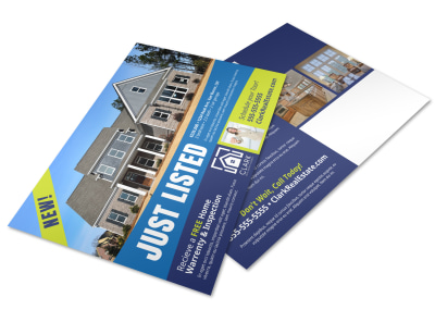 Just Listed Real Estate Postcard Template p8negpstt2 preview
