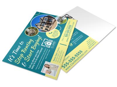 Buy vs Rent Postcard Template w2ujduutut preview