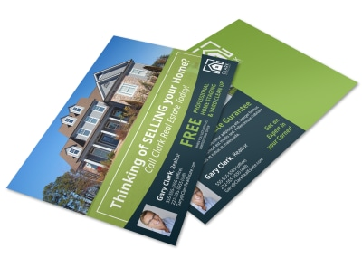 Thinking Of Selling Real Estate Postcard Template c87en4royw preview