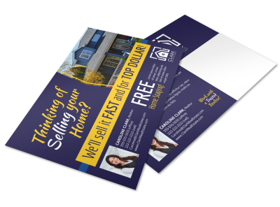 Thinking Of Selling Postcard Template btnbct46vk preview