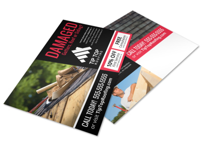 Roofing Postcard Template btbey0fzay preview