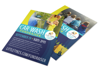 Youth Car Wash Car Wash Flyer Template ebobrbrklm preview