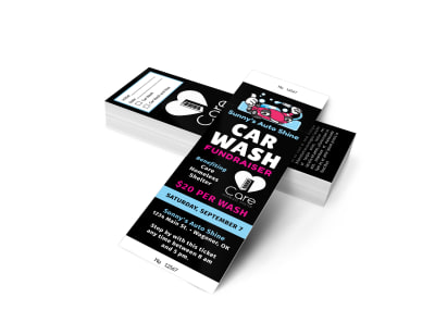 Car Wash Fundraiser Ticket Template atgjas3myo preview