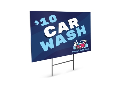 Car Wash Yard Sign Template bg4ycf4h7h preview