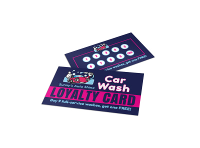 Car Wash Loyalty Card Template s5rb939ii6 preview
