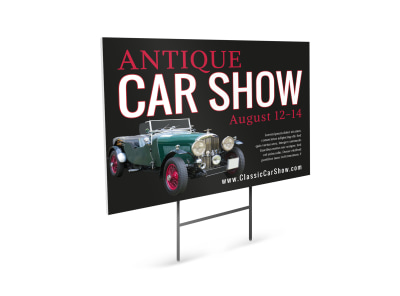 Car Show Yard Sign Template hcdypfb48h preview