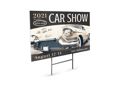 Car Show Yard Sign Template 8ngvy0ystt preview