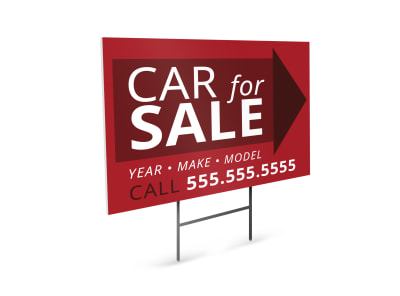 Car For Sale Yard Sign Template p0syrfz6ni preview