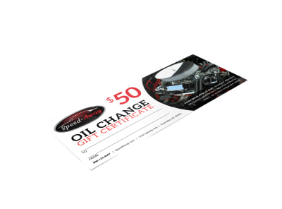 Auto Oil Change Gift Certificate Template qiezcmofut preview