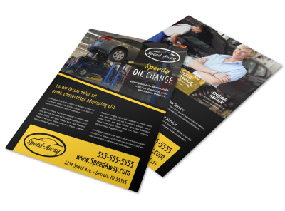 Auto Oil Change Flyer Template r2prey7jcf preview