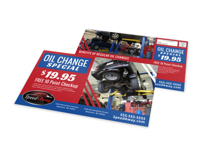 Auto Oil Change EDDM Postcard Template 1ul3yyfyv1 preview