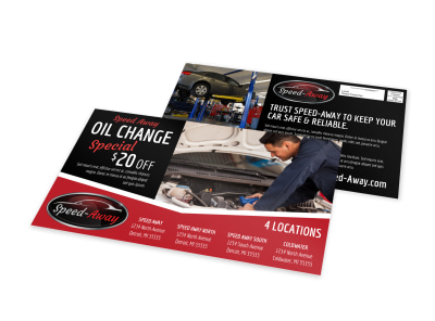 Auto Oil Change EDDM Postcard Template c3ec2x2wvn preview