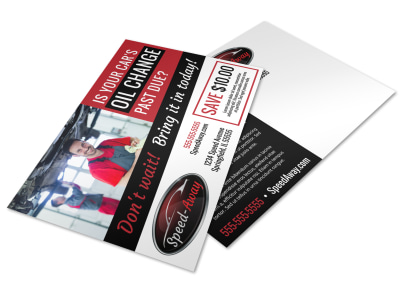 Auto Oil Change Postcard Template oecpbjbm67 preview
