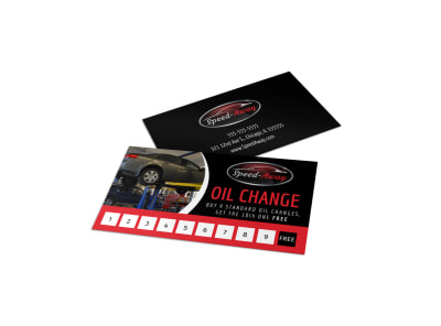 Auto Oil Change Loyalty Card Template o9ii1wr52p preview