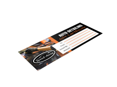 Auto Detailing Gift Certificate Template pv3n2zpaea preview