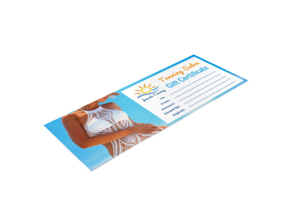 Tanning Salon Gift Certificate Template ed5tzk7o30 preview