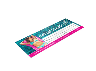 Tanning Salon Gift Certificate Template 2zyh50bhb7 preview