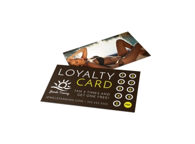 Tanning Salon Loyalty Card Template pyh2ewfrx0 preview