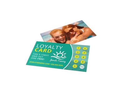 Tanning Salon Loyalty Card Template r9otbwuewc preview