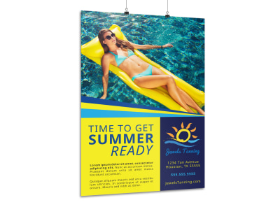 Tanning Salon Poster Template sddpt1anmp preview