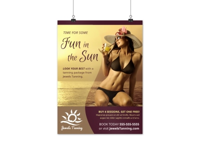 Tanning Salon Poster Template x4ndpp5cpc preview