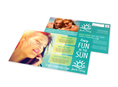 Tanning Salon EDDM Postcard Template f7u8pmv1jn preview