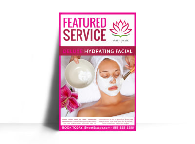 Spa Featured Product Poster Template z6nlmm7x8c preview