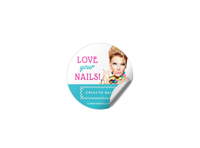 Nail Salon Sticker Template kk7lki9ii3 preview
